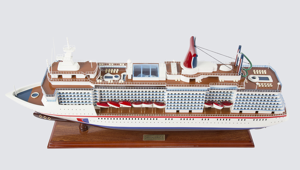 Carnival Miracle Yacht Replica Model Boat 80cm from boatguard.com.au
