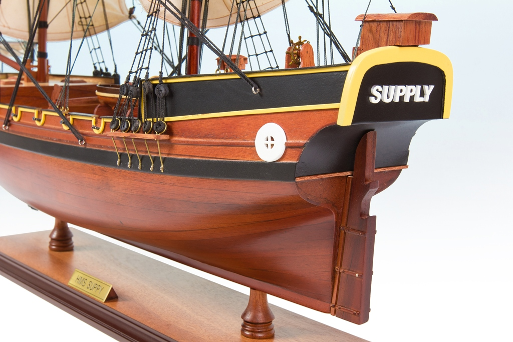 HMS Supply Replica Model Boat 75cm from boatguard.com.au